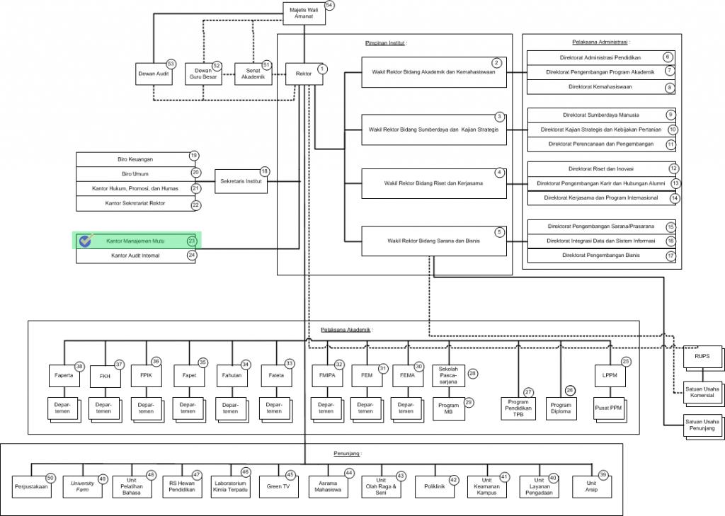 Struktur Organisasi IPB versi BHMN